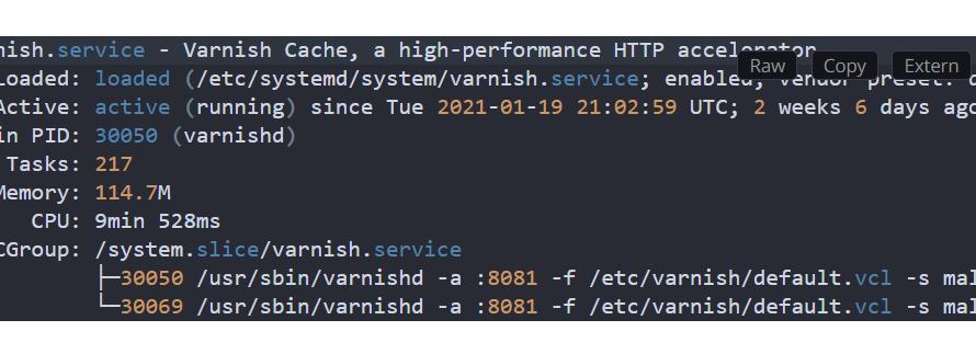 Change varnish port with systemd on Fedora