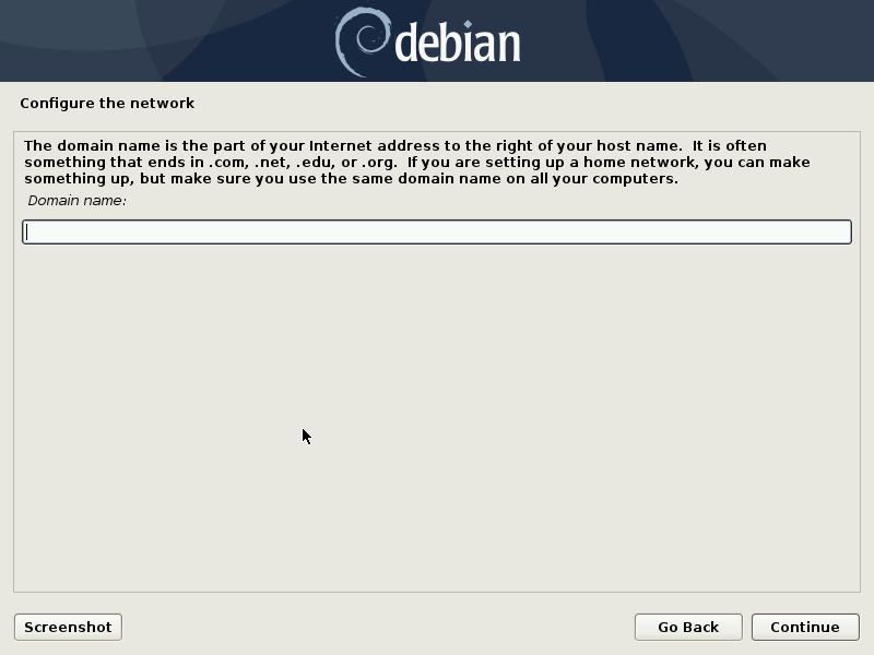 debian domain name setup