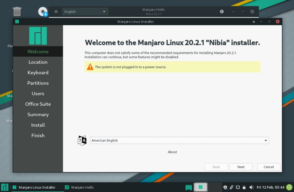 Manjaro 20.2.1 Nibia installer